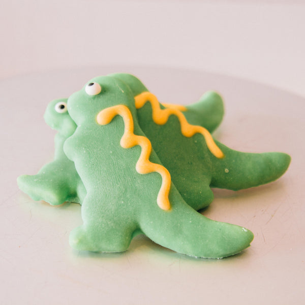 Iced Dinosaur Cookie