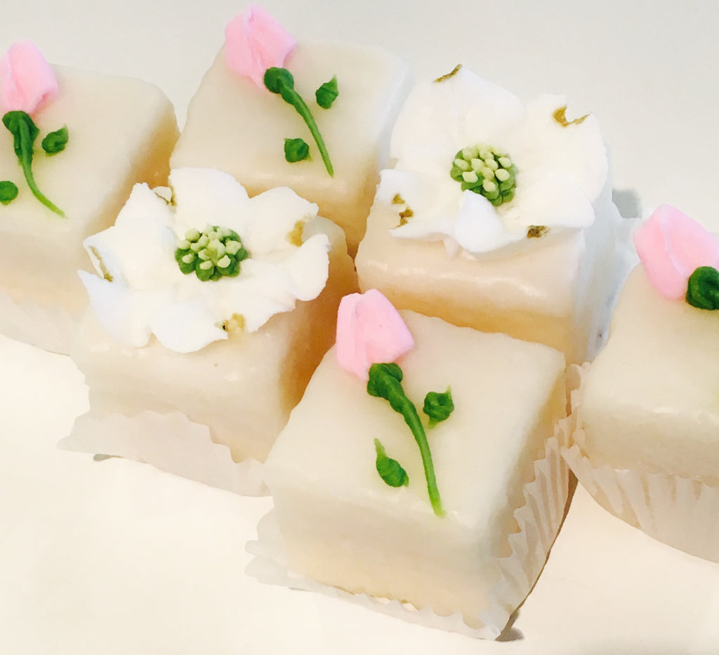 Flower petit fours savages bakery flower petit fours mightylinksfo