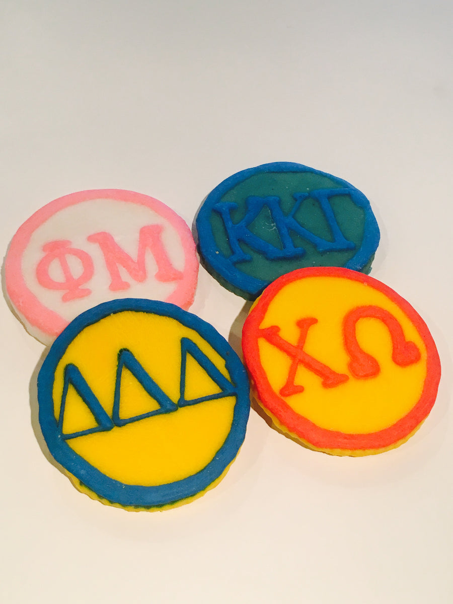 Sorority Letter Cookies (shipping)