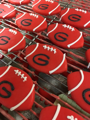 Iced Georgia Football Cookie