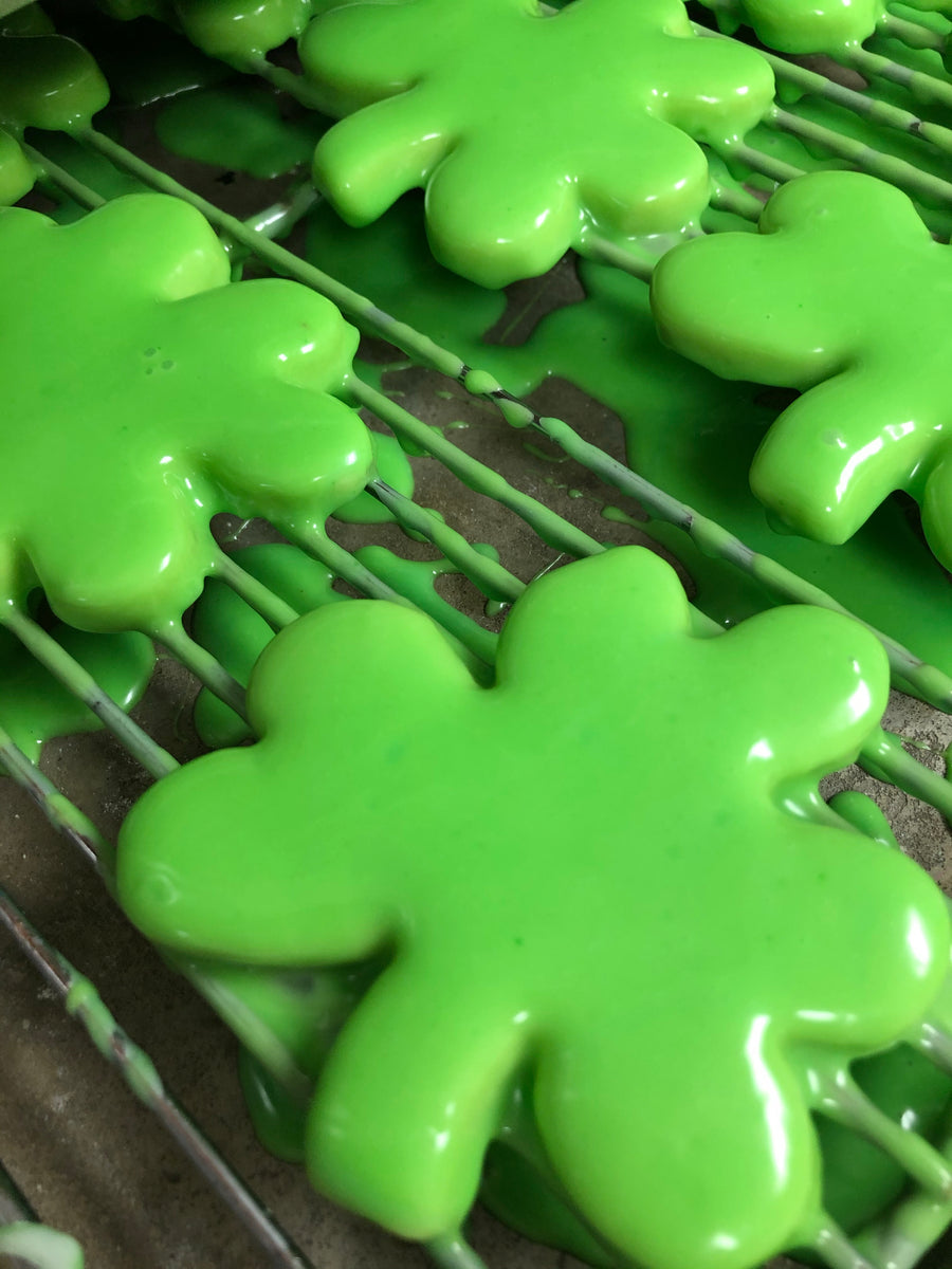 Iced Shamrock Cookies (shipping)