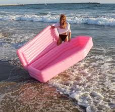 Pink Pool Coffin Floatie