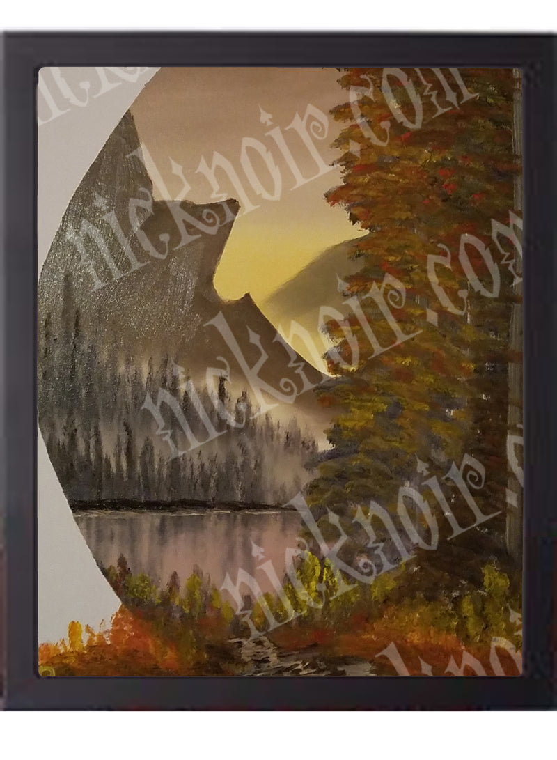 Autumn Oval Poster