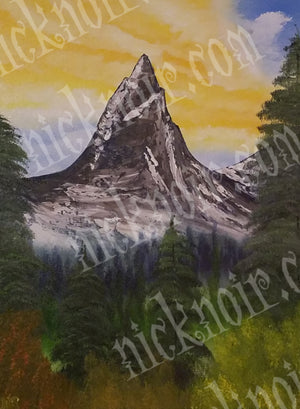 Mountain Beyond the Trees Poster