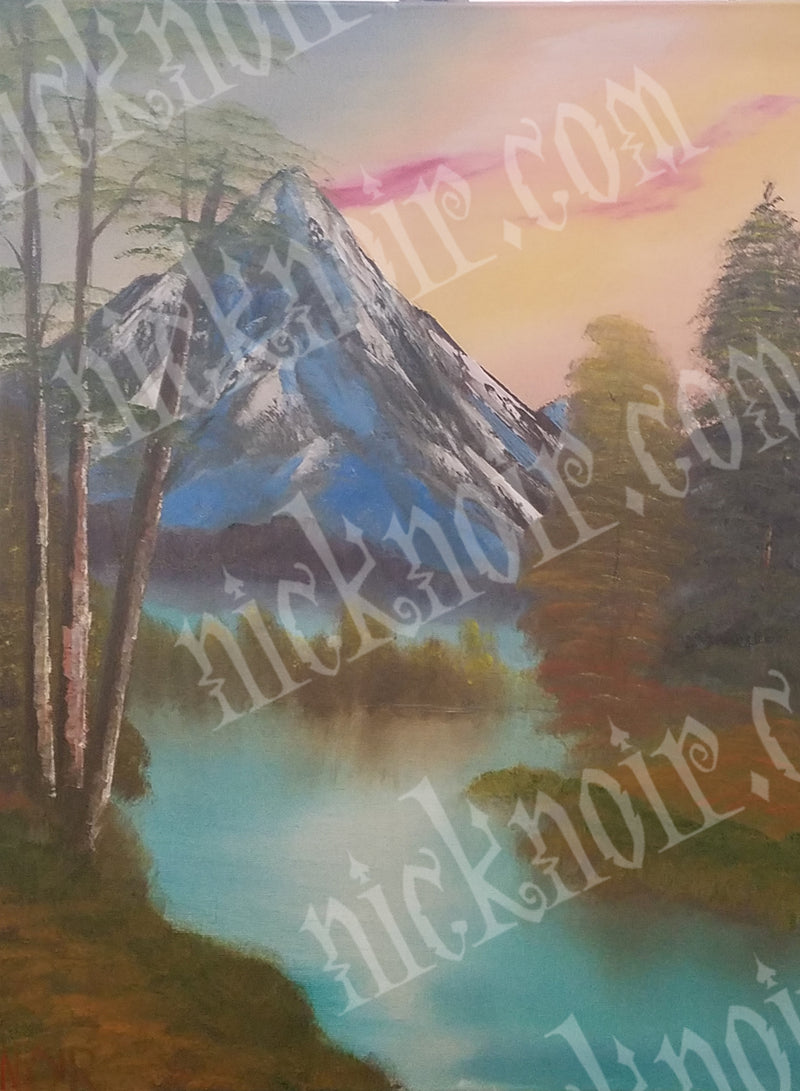 Mountain in the Spring Poster
