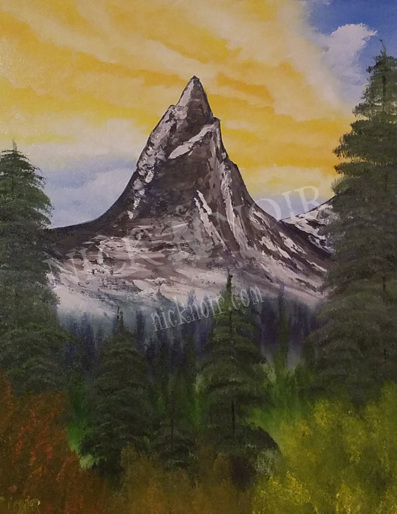 Mountain Beyond the Trees