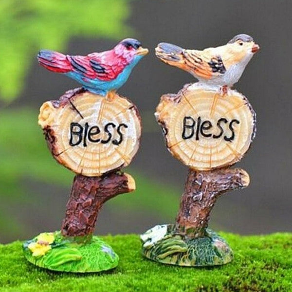 Blessing Birds Road Signs | Teelie's Fairy Garden Store