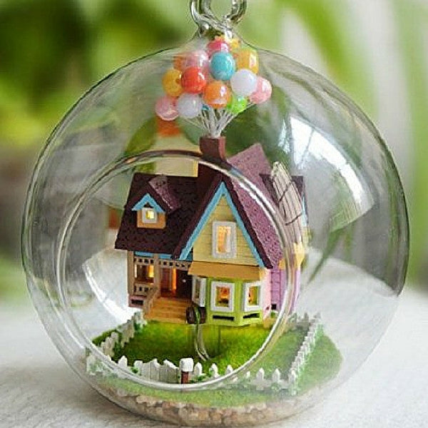 Aegean Sea Hanging Wooden House Model | Teelie's Fairy Garden Store