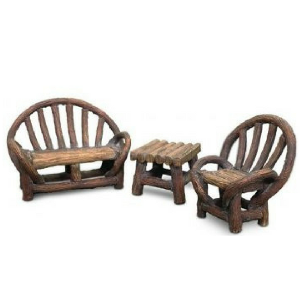 Appalachian Bench Set - Teelies Fairy Garden Store