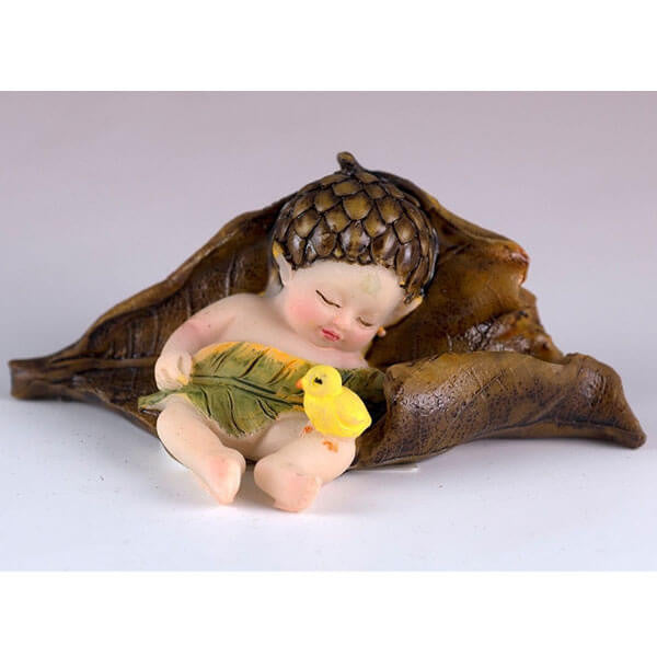 Baby Fairy Sleeping with Chick - Teelies Fairy Garden Store