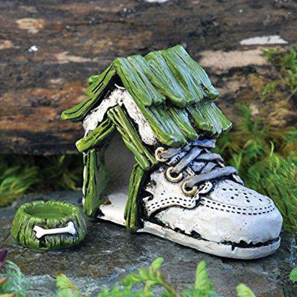 Baby Shoe Dog House | Teelie's Fairy Garden Store