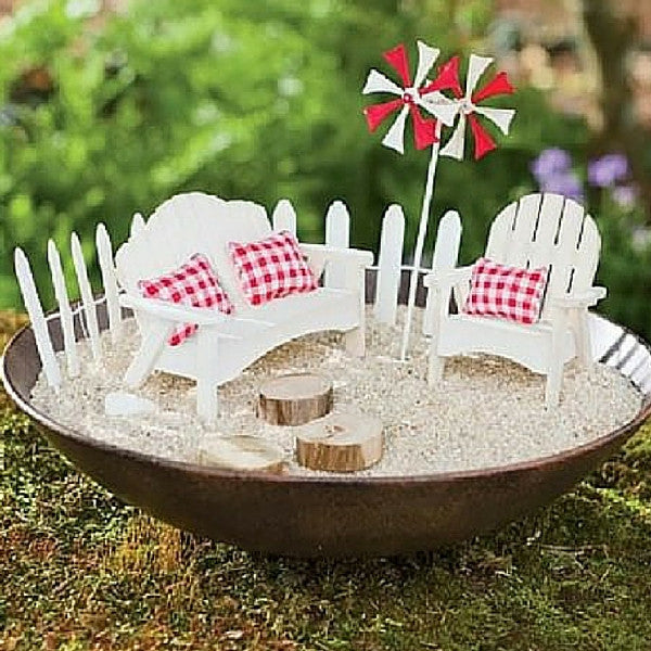 Beach Furniture and Container | Teelie's Fairy Garden Store