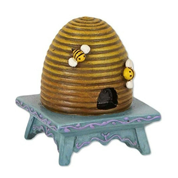Beehive on Stool | Teelie's Fairy Garden Store