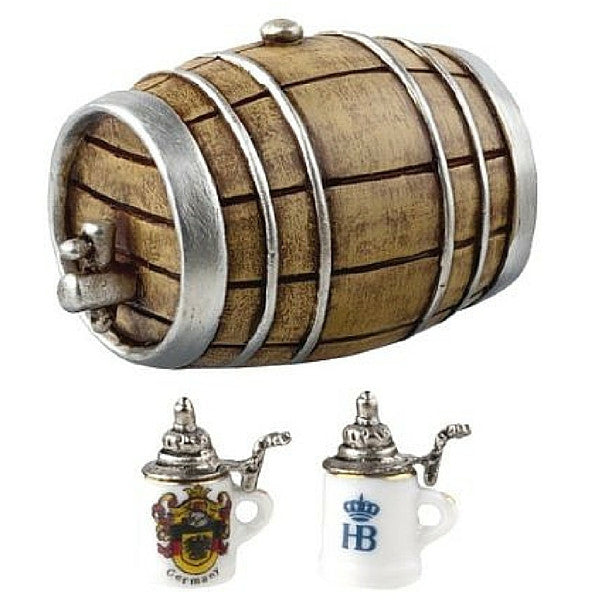 Beer Barrel and Steins Set | Teelie's Fairy Garden Store
