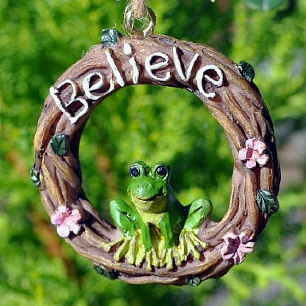 Believe Wreath | Teelie's Fairy Garden Store