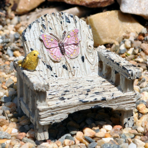 Bird and Butterfly Chair - Teelies Fairy Garden Store