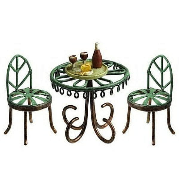 Bistro Set With A Wine Tray | Teelie's Fairy Garden Store