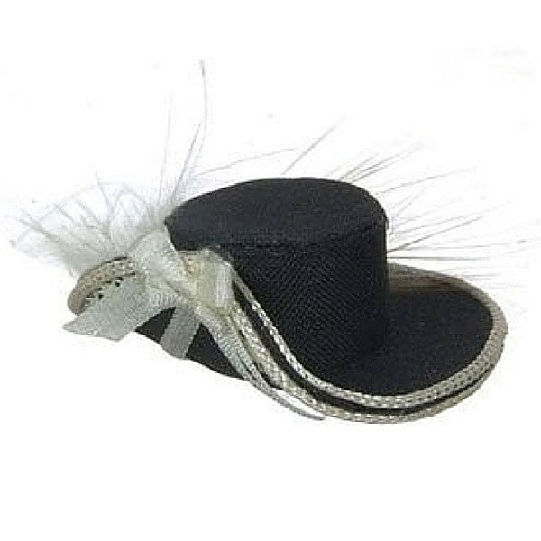 Black and White Ladies Hat | Teelie's Fairy Garden Store