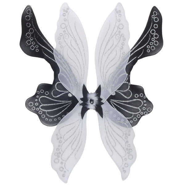 Black and White Magical Fairy Wings | Teelie's Fairy Garden Store