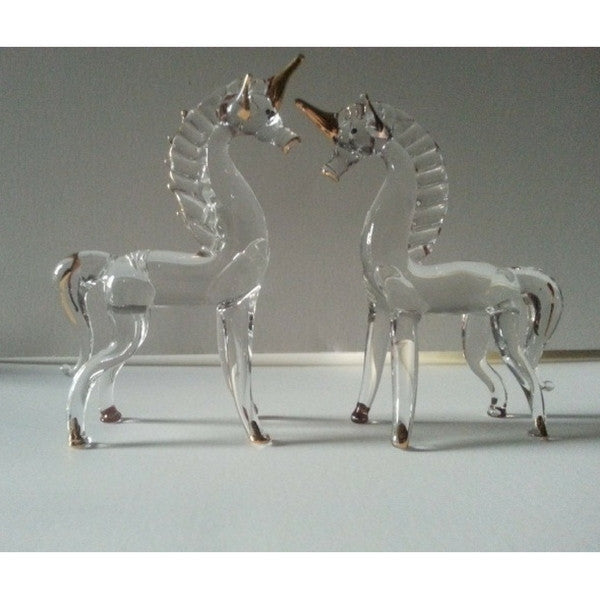 Blown Glass Unicorns | Teelie's Fairy Garden Store