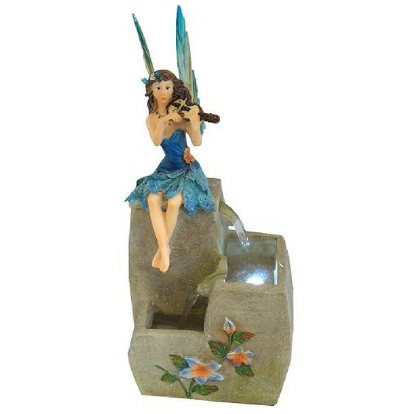 Blue Fairy Water Fountain | Teelie's Fairy Garden Store