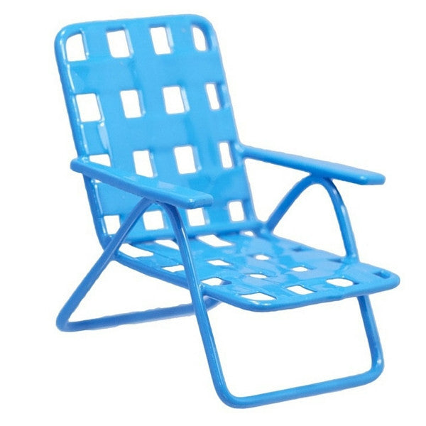 Blue Mini Lawn Chair | Teelie's Fairy Garden Store