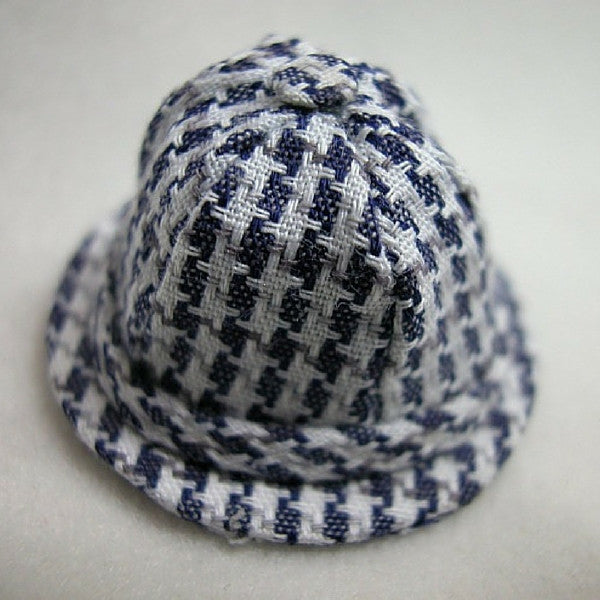 Blue and White Checkered Hat | Teelie's Fairy Garden Store