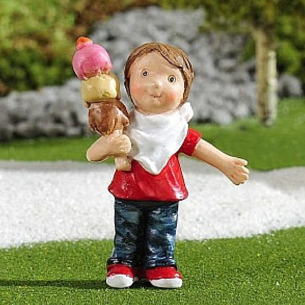 Boy with Ice Cream | Teelie's Fairy Garden Store