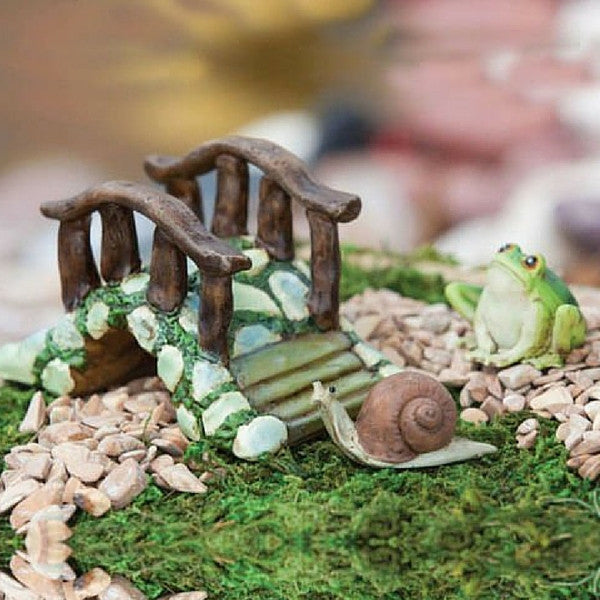 Bridge with Frog and Snail | Teelie's Fairy Garden Store