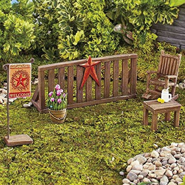 Country Porch Garden Set   Teelies Fairy Garden Store