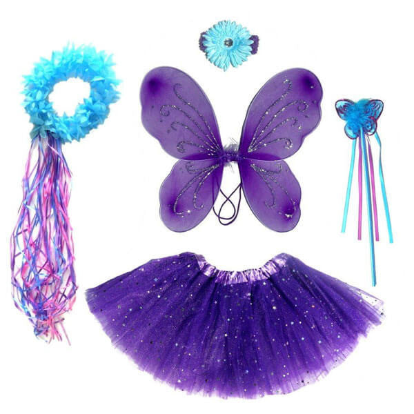 Dark Purple & Teal Fairy Set | Teelie's Fairy Garden Store