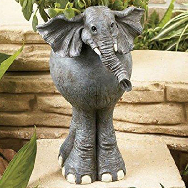 Elephant Safari Animal Planter | Teelie's Fairy Garden Store