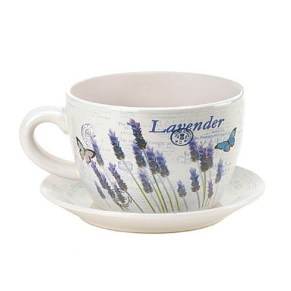 Lavender Fields Teacup Planter | Teelie's Fairy Garden Store