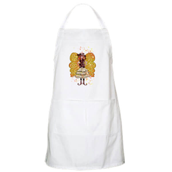 Willie Snap, the Wild West Fairy Apron in White