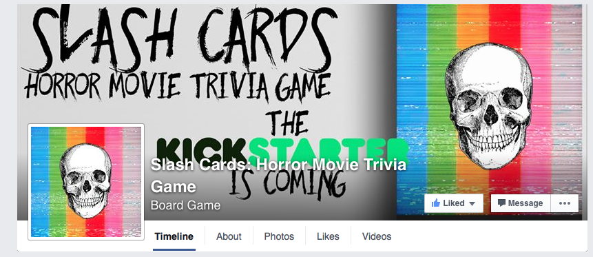 The Slash Cards Facebook Page is Up and Running