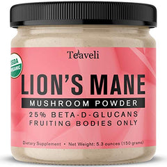 Organic Lions Mane Mushroom Powder- 5.3 Ounces (150g)