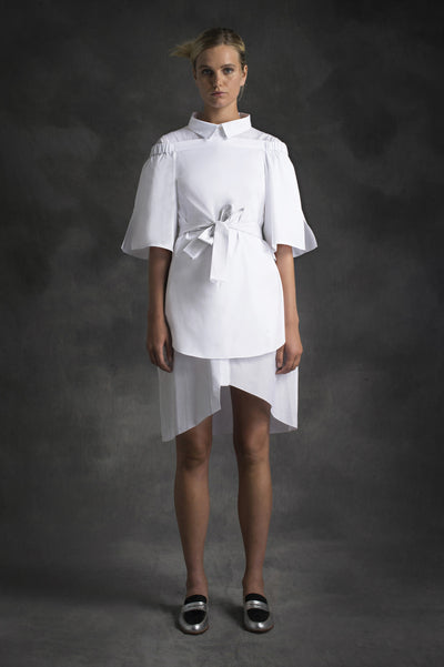 CUT OFF TUNIC SHIRTING