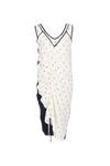 ROUCHED SLIP DRESS
