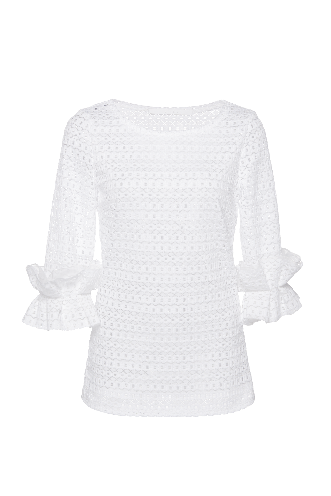 STRETCH LACE PULLOVER