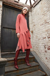 CASHMERE BIAS PLEAT COAT
