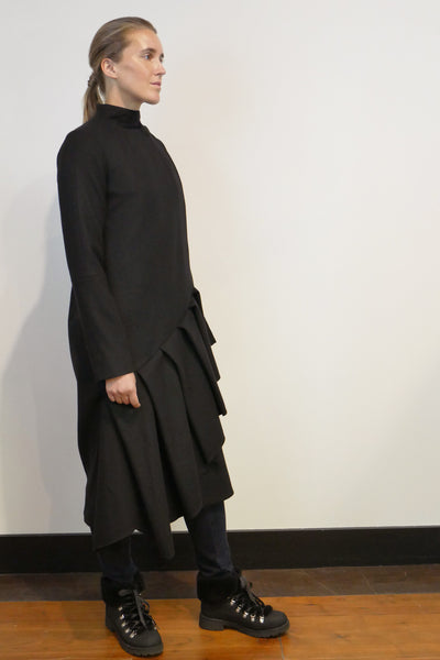 Bias Pleat Coat