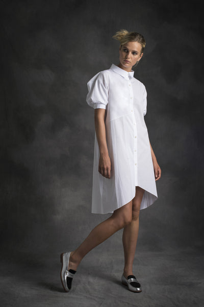 PATCHWORK SHIRTING DRESS
