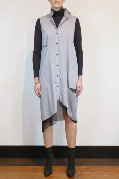 SLASHED SHIRT DRESS