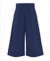 NAVY CROPPED WIDE LEG PANT