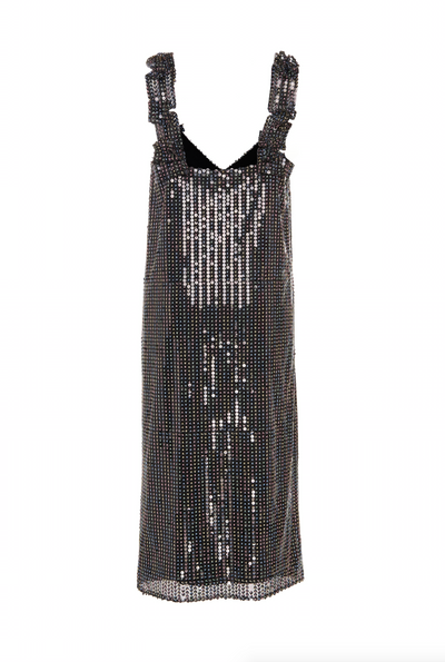 STRETCH SEQUIN SLIP DRESS