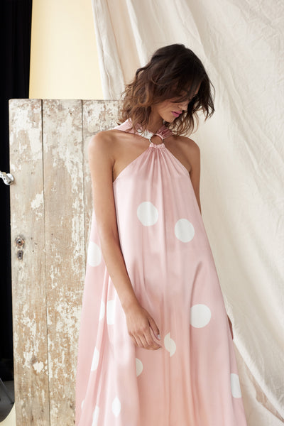 RING AROUND THE HALTER DRESS