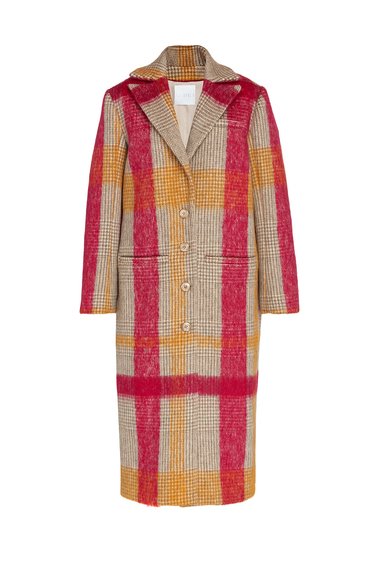 Painterly Wool Coat