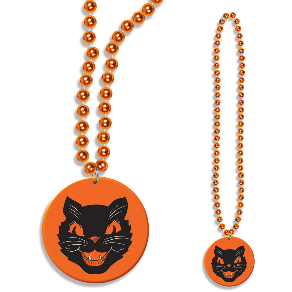 Beads w/Cat Medallion