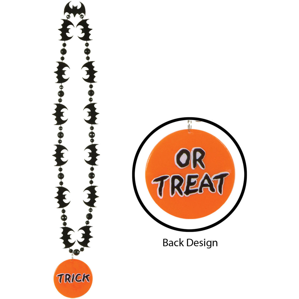 Bat Beads w/Printed Trick or T