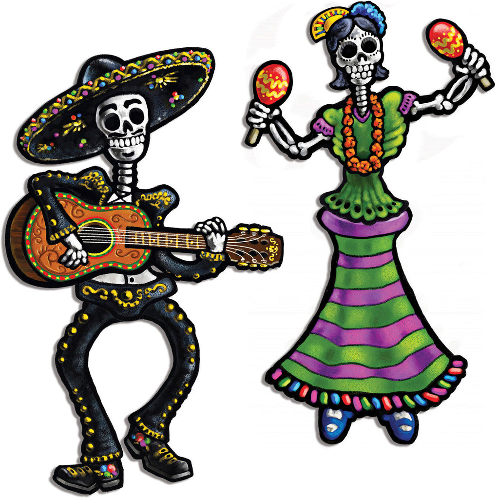 Day Of The Dead Jointed Skeleton Cutouts